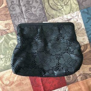 Clare V Leather Floral Design Clutch